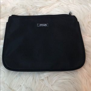 Philosophy Black Zip Cosmetic Case